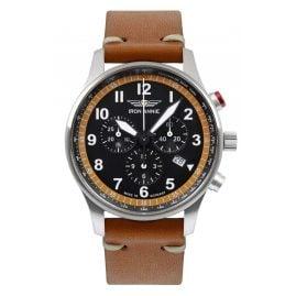 Iron Annie 5688-5 Herrenuhr Chronograph F13 Tempelhof Cognac/Schwarz