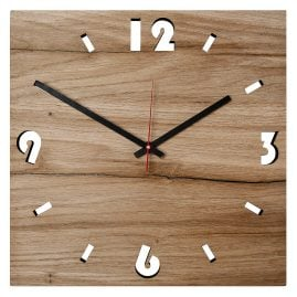 Huamet U5000 Wood Wall Clock Oak Square