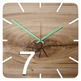 Huamet U5200 Wood Wall Clock Oak Seven