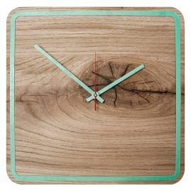 Huamet U5300 Wood Wall Clock Oak Alone