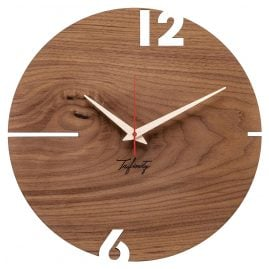 Huamet CT10-B-00 Wall Clock Puhr Walnut