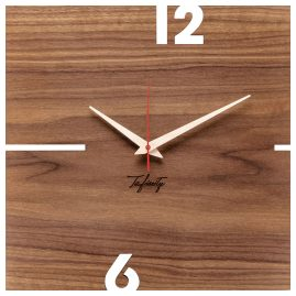 Huamet CT11-B-00 Wall Clock Puhr Walnut