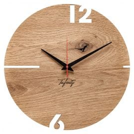 Huamet CT50-A-00 Wall Clock Puhr Oak Wood