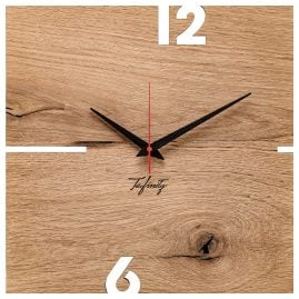 Huamet CT51-A-00 Wall Clock Puhr Oak Wood