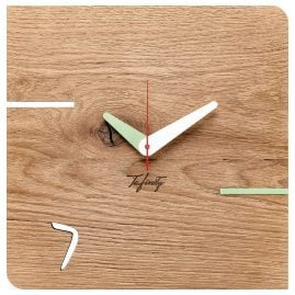 Huamet CT51-D-02 Wall Clock Kontuhr Seven Oak Wood