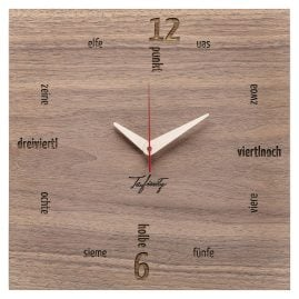 Huamet CA11-B-01 Wall Clock Kultuhr Dialect Walnut