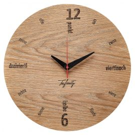 Huamet CA50-A-01 Wall Clock Kultuhr Dialect Oak Wood