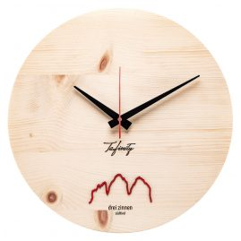 Huamet CA40-A-06 Wall Clock Bergtouhr 3 Zinnen Pine