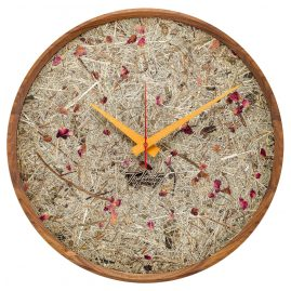 Huamet CF10-F-10 Wall Clock Hay and Roses Walnut