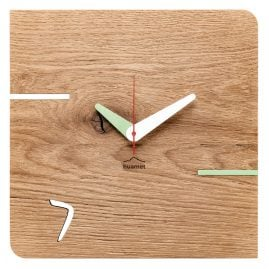 Huamet CH51-D-02 Wall Clock Kontuhr Seven Oak Wood