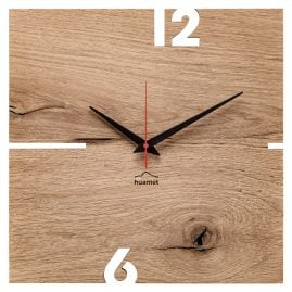 Huamet CH51-A-00 Wall Clock Puhr Oak Wood