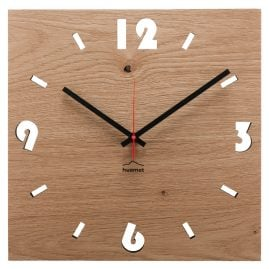 Huamet CH51-A-1604 Wood Wall Clock Oak Square