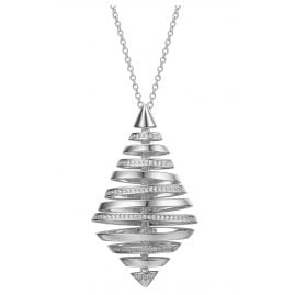 IUN Silver Couture PS01119A1-WW Necklace New Wave Silver 925 Cubic Zirconia