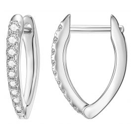 IUN Silver Couture AE006-WW Earrings Silver 925 Cubic Zirconia 15 mm