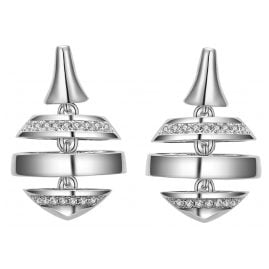 IUN Silver Couture ES00617A1-WW Earrings New Wave Silver 925 Cubic Zirconia