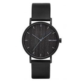 Take A Shot Lewis Armbanduhr mit Holz-Zifferblatt