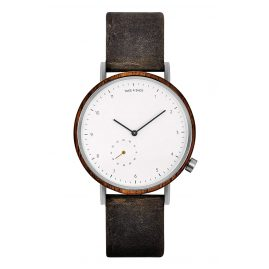 Take A Shot George Men's Wristwatch Steel/Walnut