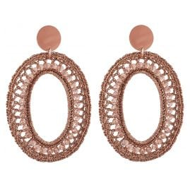 Lott Gioielli CESI125-R28592 Ladies´ Earrings Silk Oval L