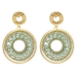 Lott Gioielli CESI114-G27747 Ladies´ Ear Pendants Silk Circle S