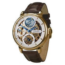 Poljot International 9730.2940651 Men´s Wristwatch Double Timer Globetrotter