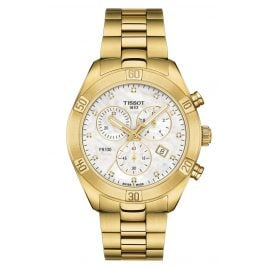 Tissot T101.917.33.116.01 Ladies Chronograph PR 100 Sport Chic Gold Tone