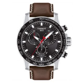 Tissot T125.617.16.051.01 Herrenuhr Supersport Chrono mit braunem Lederband