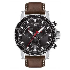 Tissot T125.617.16.051.01 Herrenuhr Supersport Chrono mit braunem Lederband