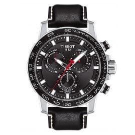 Tissot T125.617.16.051.00 Herrenuhr Supersport Chrono Lederband schwarz