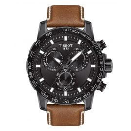 Tissot T125.617.36.051.01 Men's Watch Supersport Chrono Brown Leather Strap