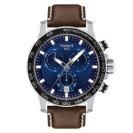 Tissot T125.617.16.041.00 Men's Watch Supersport Chrono Brown Leather Strap