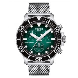 Tissot T120.417.11.091.00 Men's Diver Watch Chronograph Seastar 1000 Green