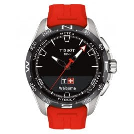 Tissot T121.420.47.051.01 Herrenuhr T-Touch Connect Solar Rot