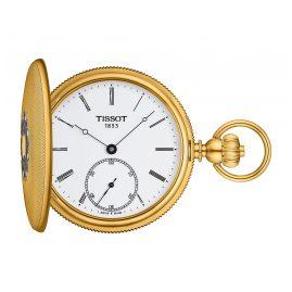 Tissot T867.405.39.013.00 Pocket Watch Savonette Hand Winding Gold Tone