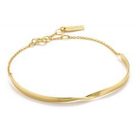 Ania Haie B012-02G Damenarmband Silber 925 Goldplattiert Twist