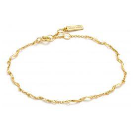 Ania Haie B012-03G Damenarmband Silber Goldplattiert Helix