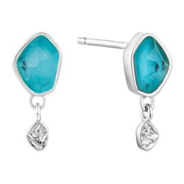 Ania Haie E014-01H Silber Damen-Ohrstecker Turquoise Drop