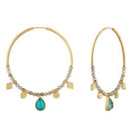 Ania Haie E014-05G Damen-Ohrringe Turquoise Labradorite