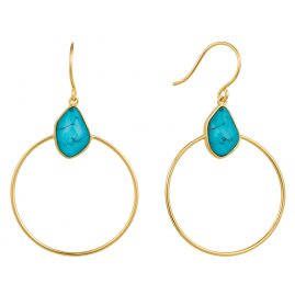 Ania Haie E014-02G Women's Earrings Turquoise Front