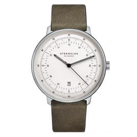 Sternglas SHH41/314 Men's Watch Quartz Hamburg Nato Green