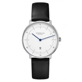 Sternglas SND01/603 Women's Watch Naos XS with Leather Strap black
