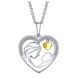Sokolov 94031851 Silber-Anhänger Herz Mama und Baby