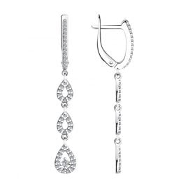trendor 94023658 Women's Drop Earrings Silver 925 with Cubic Zirconia