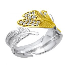 Sokolov 94012413 Ladies' Ring Feather