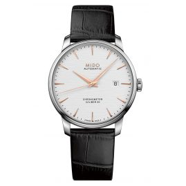 Mido M027.408.16.031.00 Automatic Watch Baroncelli Chronometer Silicium