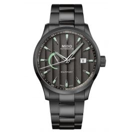 Mido M038.424.33.061.00 Automatic Watch Multifort Power Reserve Anthracite