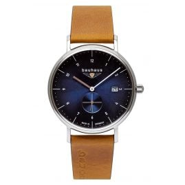 Bauhaus 2130-3 Men's Watch with Leather Strap Brown / Blue