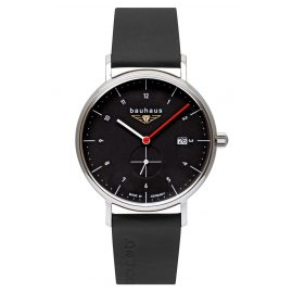 Bauhaus 2130-2 Men's Watch with Leather Strap Black