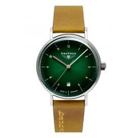 Bauhaus 2141-4 Damenuhr mit Lederband Hellbraun/Grün