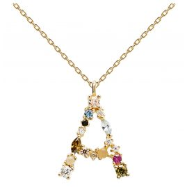 P D Paola CO01-096-U Women's Necklace Letter A