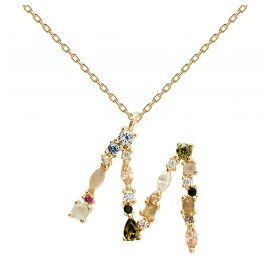 P D Paola CO01-108-U Women's Necklace Letter M